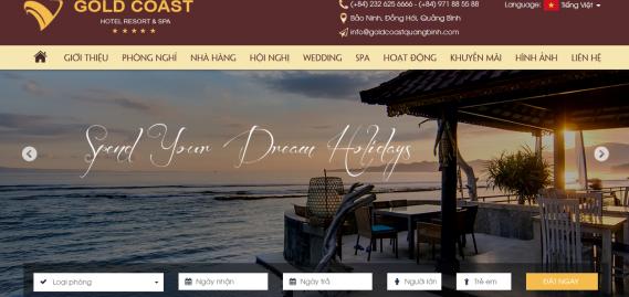 Website Gold Coast Hotel Resort & Spa chính thức đi vào hoạt động